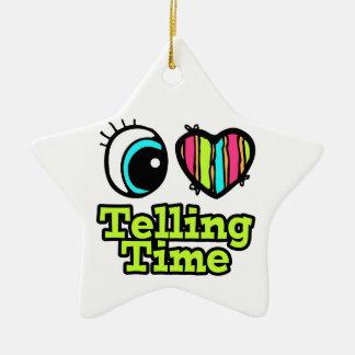 Bright Eye Heart I Love Telling Time Christmas Ornament