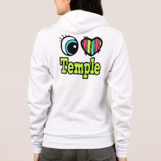 Bright Eye Heart I Love Temple Hoodie