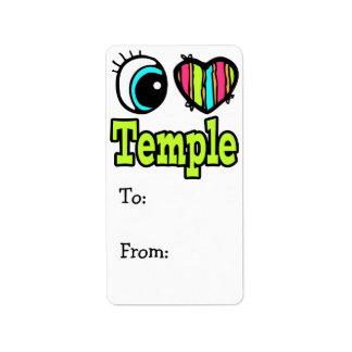 Bright Eye Heart I Love Temple Label