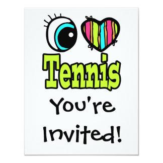 Bright Eye Heart I Love Tennis Card
