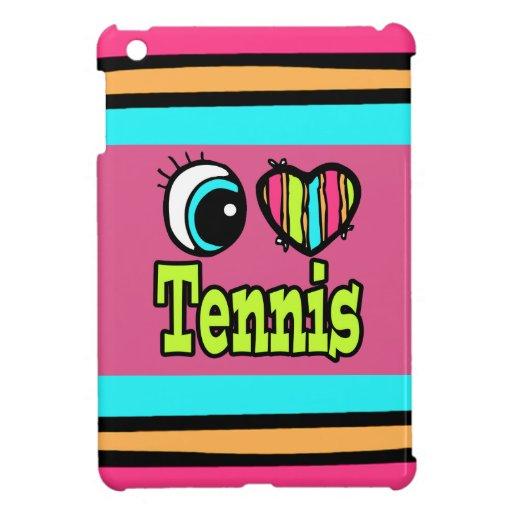 Bright Eye Heart I Love Tennis iPad Mini Case