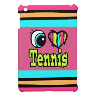 Bright Eye Heart I Love Tennis iPad Mini Cover