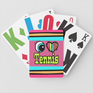 Bright Eye Heart I Love Tennis Bicycle Playing Cards