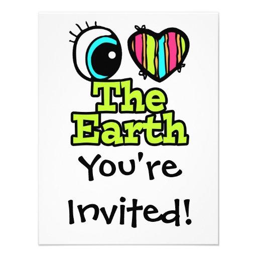 Bright Eye Heart I Love The Earth Custom Announcement