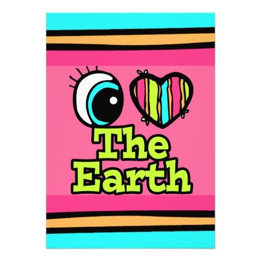 Bright Eye Heart I Love The Earth Custom Announcements