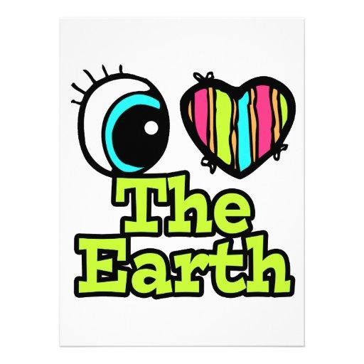 Bright Eye Heart I Love The Earth Invitation
