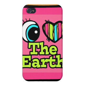 Bright Eye Heart I Love The Earth Case For iPhone 4