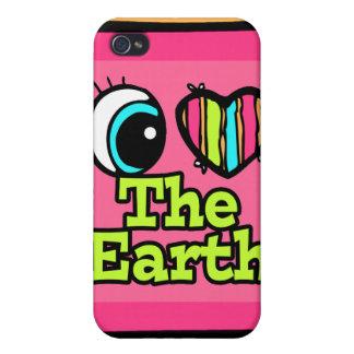 Bright Eye Heart I Love The Earth iPhone 4/4S Case