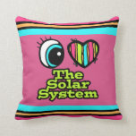 Bright Eye Heart I Love The Solar System Throw Pillow