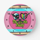 Bright Eye Heart I Love The Tooth Fairy Round Clock