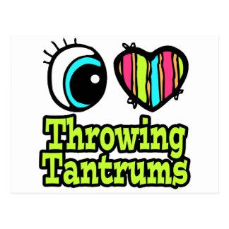 Bright Eye Heart I Love Throwing Tantrums Postcard