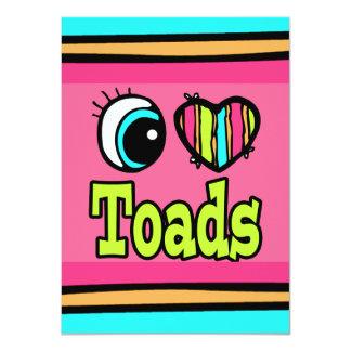 Bright Eye Heart I Love Toads Personalized Invitations