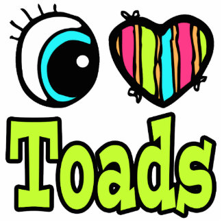 Bright Eye Heart I Love Toads Photo Sculptures
