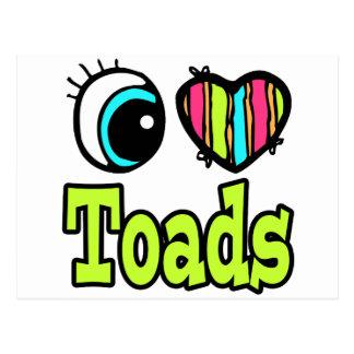 Bright Eye Heart I Love Toads Postcard