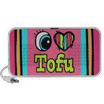 Bright Eye Heart I Love Tofu iPod Speakers