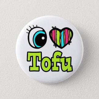 Bright Eye Heart I Love Tofu Pinback Button