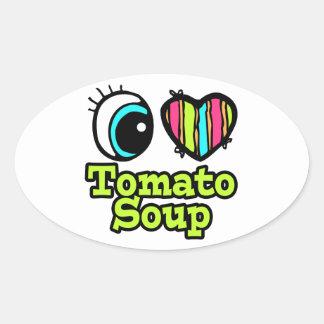 Bright Eye Heart I Love Tomato Soup Stickers