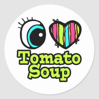 Bright Eye Heart I Love Tomato Soup Sticker