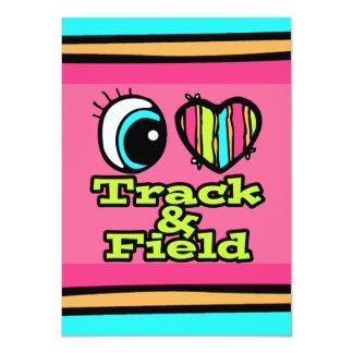 Bright Eye Heart I Love Track and Field Card