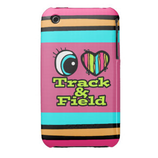 Bright Eye Heart I Love Track and Field Case-Mate iPhone 3 Case