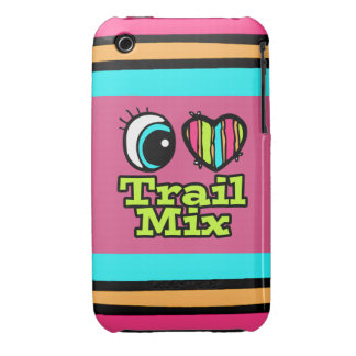 Bright Eye Heart I Love Trail Mix iPhone 3 Covers