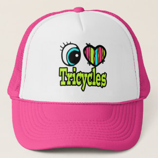 Bright Eye Heart I Love Tricycles Trucker Hat