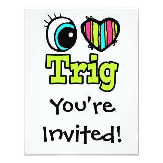 Bright Eye Heart I Love Trig Card
