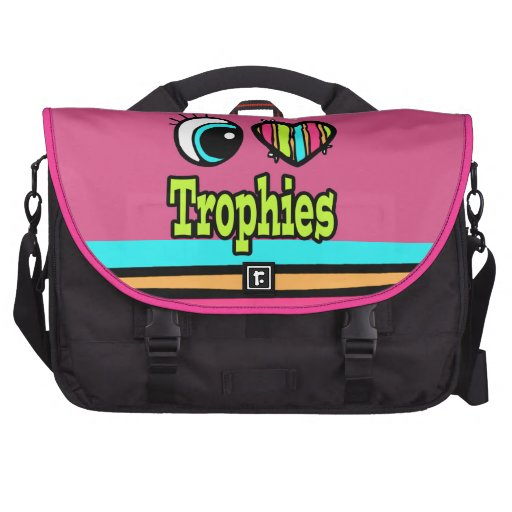 Bright Eye Heart I Love Trophies Laptop Computer Bag