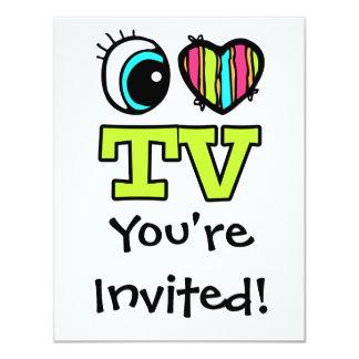 Bright Eye Heart I Love TV Card