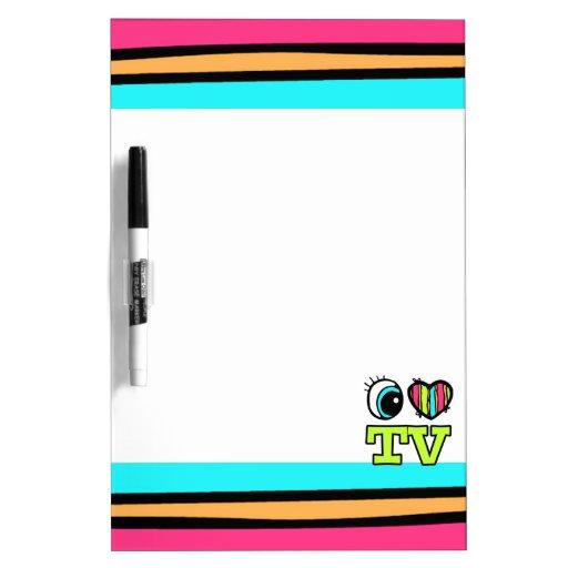 Bright Eye Heart I Love TV Dry-Erase Board