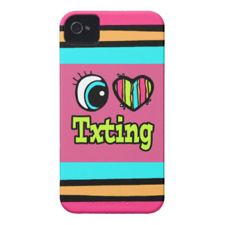 Bright Eye Heart I Love Txting iPhone 4 Cover