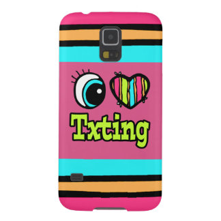 Bright Eye Heart I Love Txting Galaxy S5 Covers