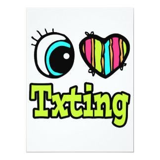 Bright Eye Heart I Love Txting Custom Announcements