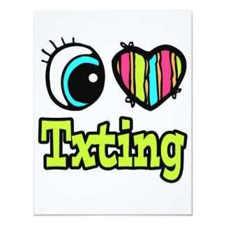 Bright Eye Heart I Love Txting Custom Invitations