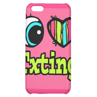 Bright Eye Heart I Love Txting Cover For iPhone 5C