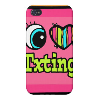 Bright Eye Heart I Love Txting Covers For iPhone 4