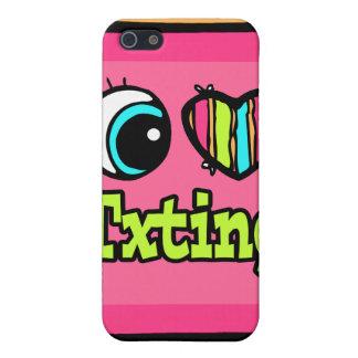 Bright Eye Heart I Love Txting iPhone 5 Cover