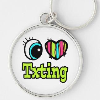 Bright Eye Heart I Love Txting Key Chains