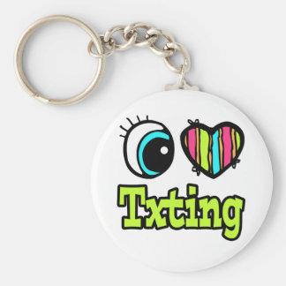 Bright Eye Heart I Love Txting Keychain
