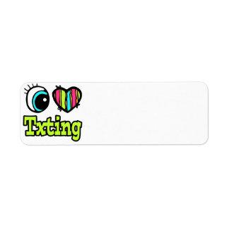 Bright Eye Heart I Love Txting Custom Return Address Labels