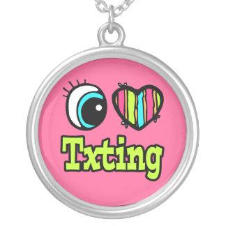 Bright Eye Heart I Love Txting Necklaces