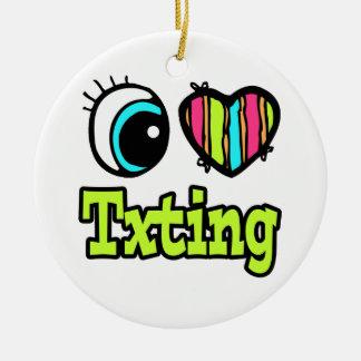 Bright Eye Heart I Love Txting Christmas Ornaments