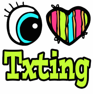 Bright Eye Heart I Love Txting Photo Sculpture