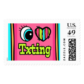 Bright Eye Heart I Love Txting Postage Stamps
