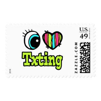 Bright Eye Heart I Love Txting Stamps
