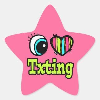 Bright Eye Heart I Love Txting Star Stickers