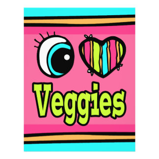 "Bright Eye Heart I Love Veggies 8.5"" X 11"" Flyer"