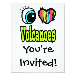 Bright Eye Heart I Love Volcanoes Card