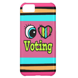 Bright Eye Heart I Love Voting Cover For iPhone 5C