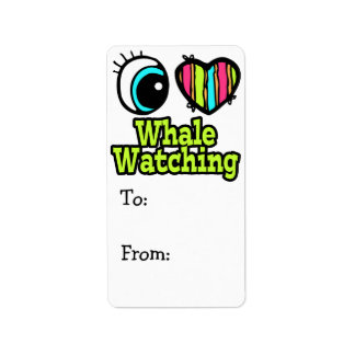 Bright Eye Heart I Love Whale Watching Label
